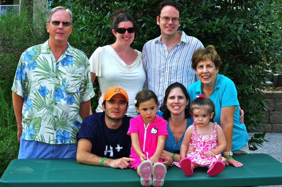 With Brad's family in Myrtle beach