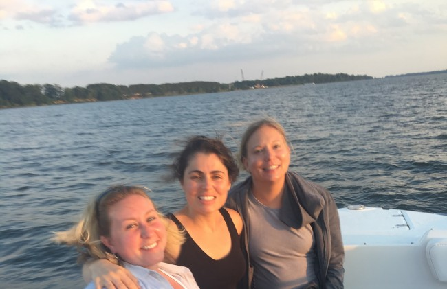 An evening on the water with some of my favorite girls.