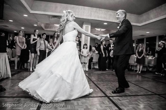 Amy and her dad did a choreographed father daughter dance to