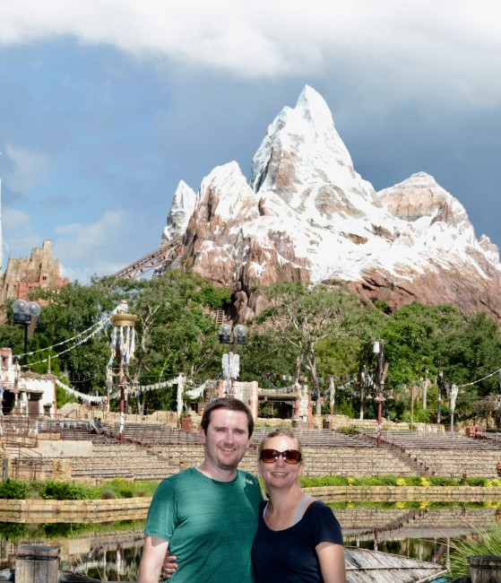 At Animal Kingdom! This is probably our favorite park at Disney. We are both animal lovers and this place is amazing.