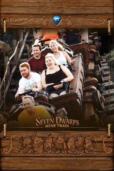 Seven Dwarves Mine coaster! We both really enjoyed this one as well.