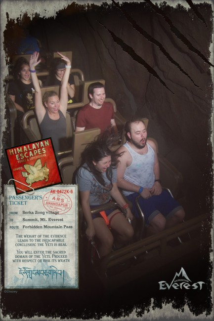 Expedition Everest, One of the best rides at Disney. No hands!