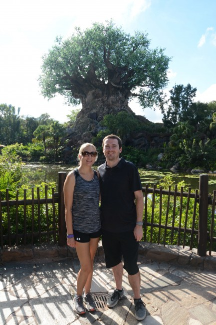 Posing front of the Tree of Life at Animal Kingdom Park