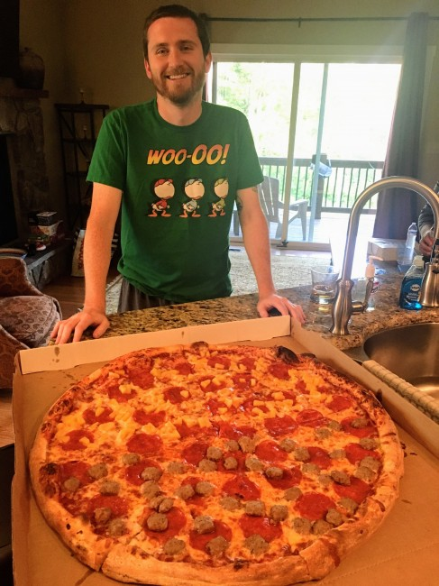 The biggest pizza we've ever seen!