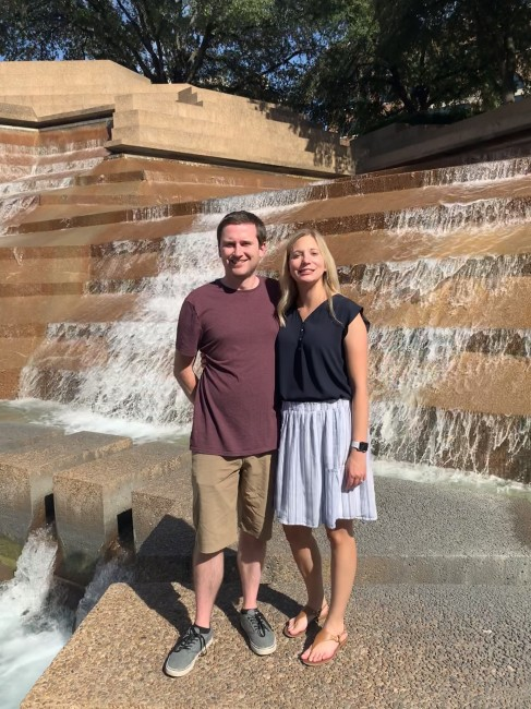 A stop at the water Gardens while visiting Texas.