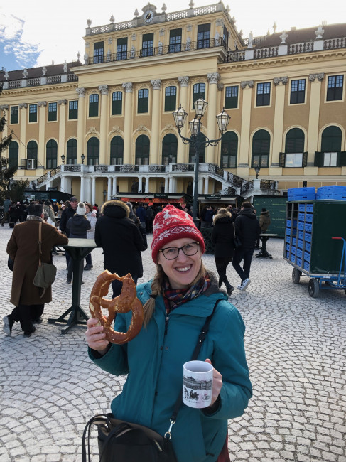 Eating Pretzels in Vienna
