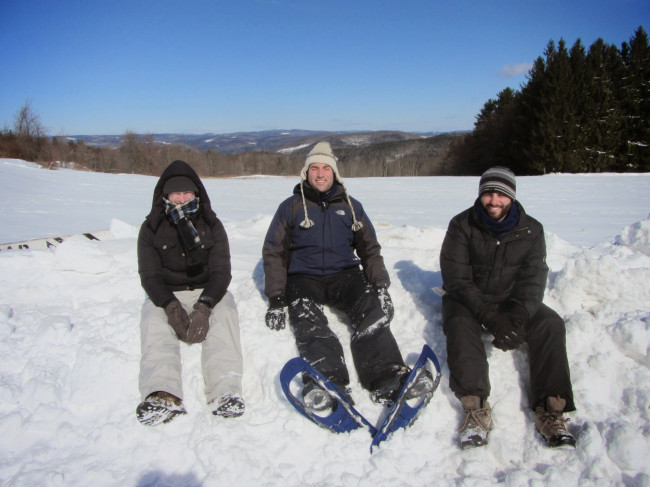 Snowshoeing with my brothers