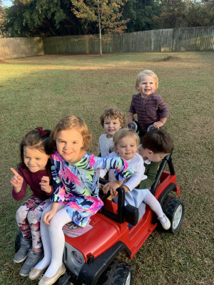 We love family time! Playtime with cousins is our favorite.