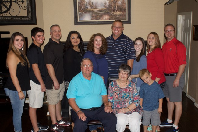 David's side of the family (brother, sister, and each of their families).