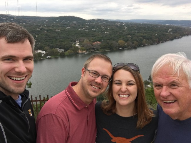 The four of us hiked up to an overlook of the lake; it was beautiful!