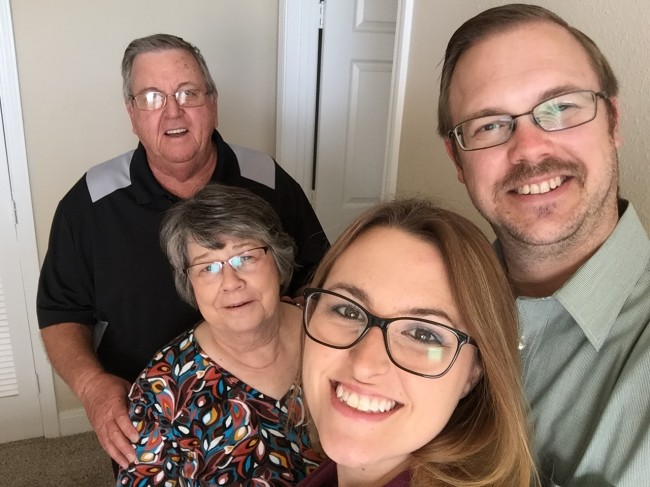 Us with David's parents in Nov. 2017.