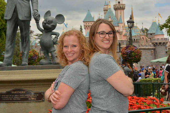 Meaghan and  her friend Sarah on a girls' trip to Disneyland.