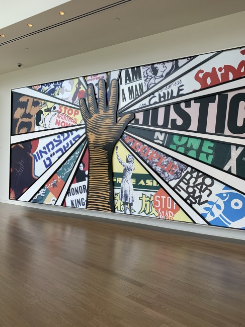 We visited the National Center for Civil and Human Rights while in Atlanta.