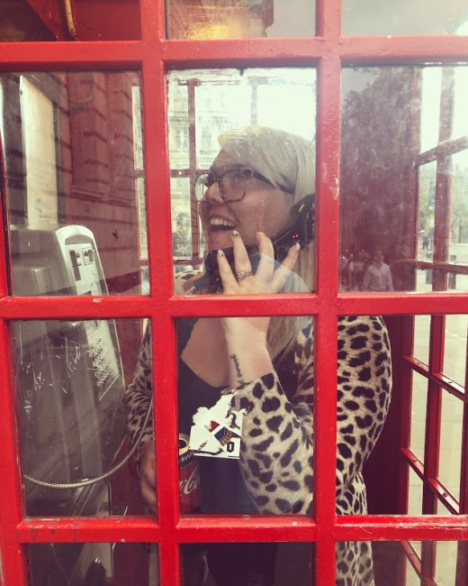 You can't go to London and not take a picture in a red telephone box!