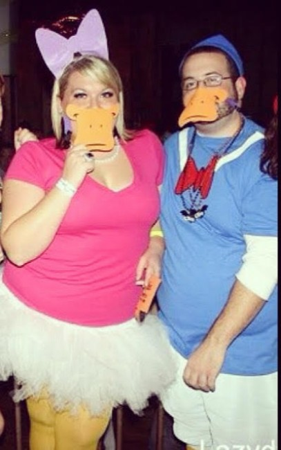 This was our first Halloween together - just 3 months after we'd started dating. When Stephen agreed to be Donald Duck, Alex knew he was the one.