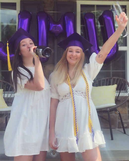 Emily and Erin graduated from James Madison University in May of this year! Emily is getting her Masters degree in Elementary Education and Erin majored in Art History. We're all so proud of their hard work!