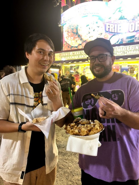 Stephen has a soft spot for all kinds of fair food - funnel cakes, fried oreos, you name it!