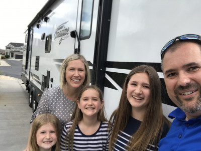 One of our favorite things to do is travel together as a family.  Having the RV makes camping a lot more doable!