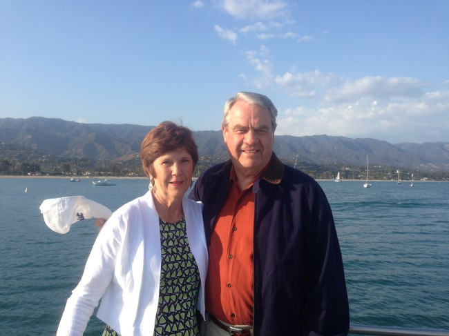 Clay's parents are enjoying sunny, California weather.