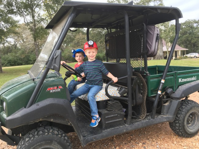 Clay's nephews having fun at the ranch.