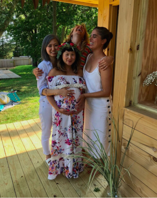 Our diverse group of friends can't wait to be aunties!