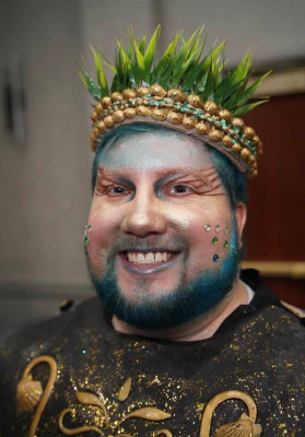 We get a kick out of dressing up for Halloween, comic cons or any other excuse.  Here's Rob as Poseidon for a party.