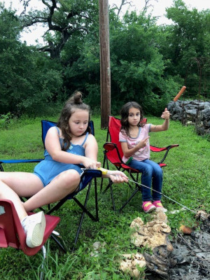 We love camping and especially hanging around a camp fire and telling stories.