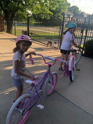 Everyone in the family loves riding our bikes.