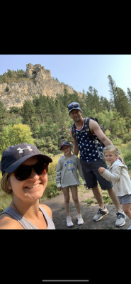 We love to hike! This was taken on our trip to the Black Hills in 2020!