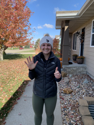 I love to run! This was my longest run in October in honor of Infertility and Pregnancy loss awareness month. Six miles in honor of our six babies lost to miscarriage.