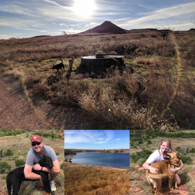 We love to visit Yaya and Papa's ranch. We love to go on hike's, fish, frog hunt and feed the livestock out on the range.
