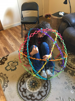 Played with the kiddos and I got stuck in the ball ... Help!