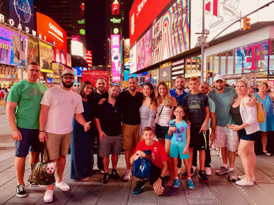 Our family always has fun together. This is us in the middle of Times Square, NYC!