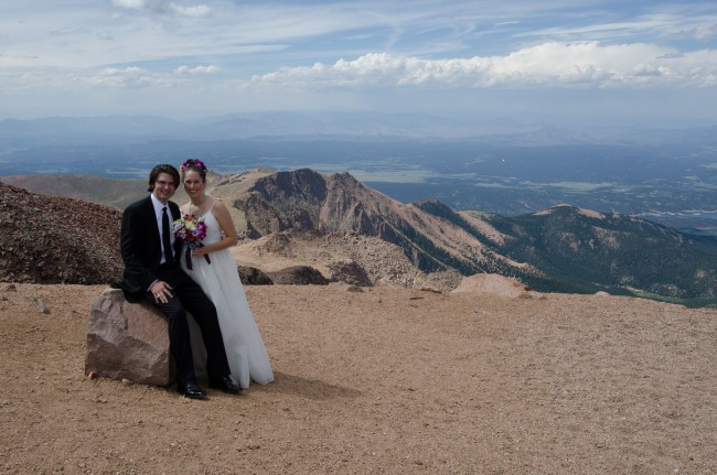 We were married at the top of Pikes Peak