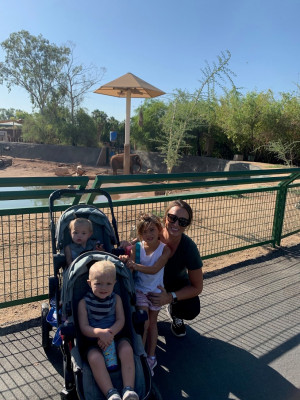 Spending time at the zoo!