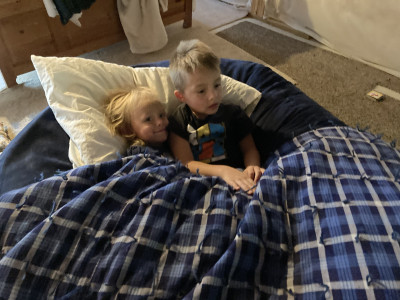 No matter how much they fight and get on each other nerves, these two LOVE snuggling and watching a show. They can't watch anything without a blanket and someone to sit next to.