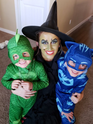 We love to celebrate the holidays. Dressing up for Halloween is a favorite.